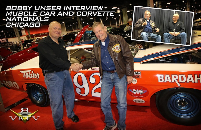 Kevin Oeste and Bobby Unser at the Muscle Car and Corvette Nationals in Chicago