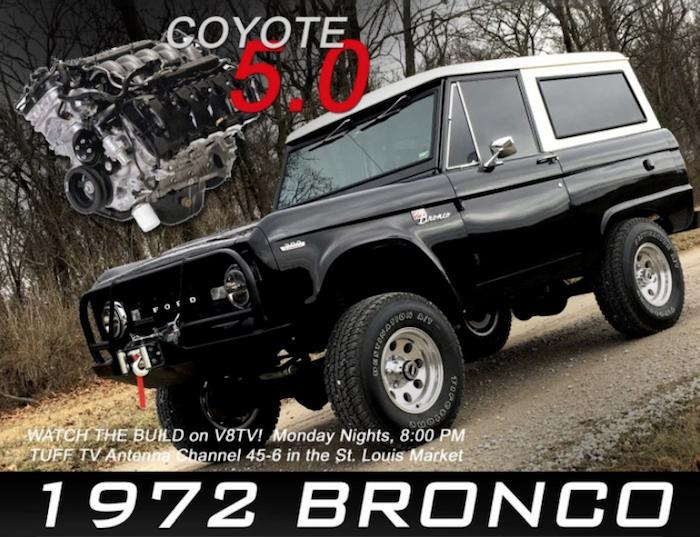 1972 Ford Bronco 5.0 Coyote Restomod Build at V8 Speed & Resto Shop Video