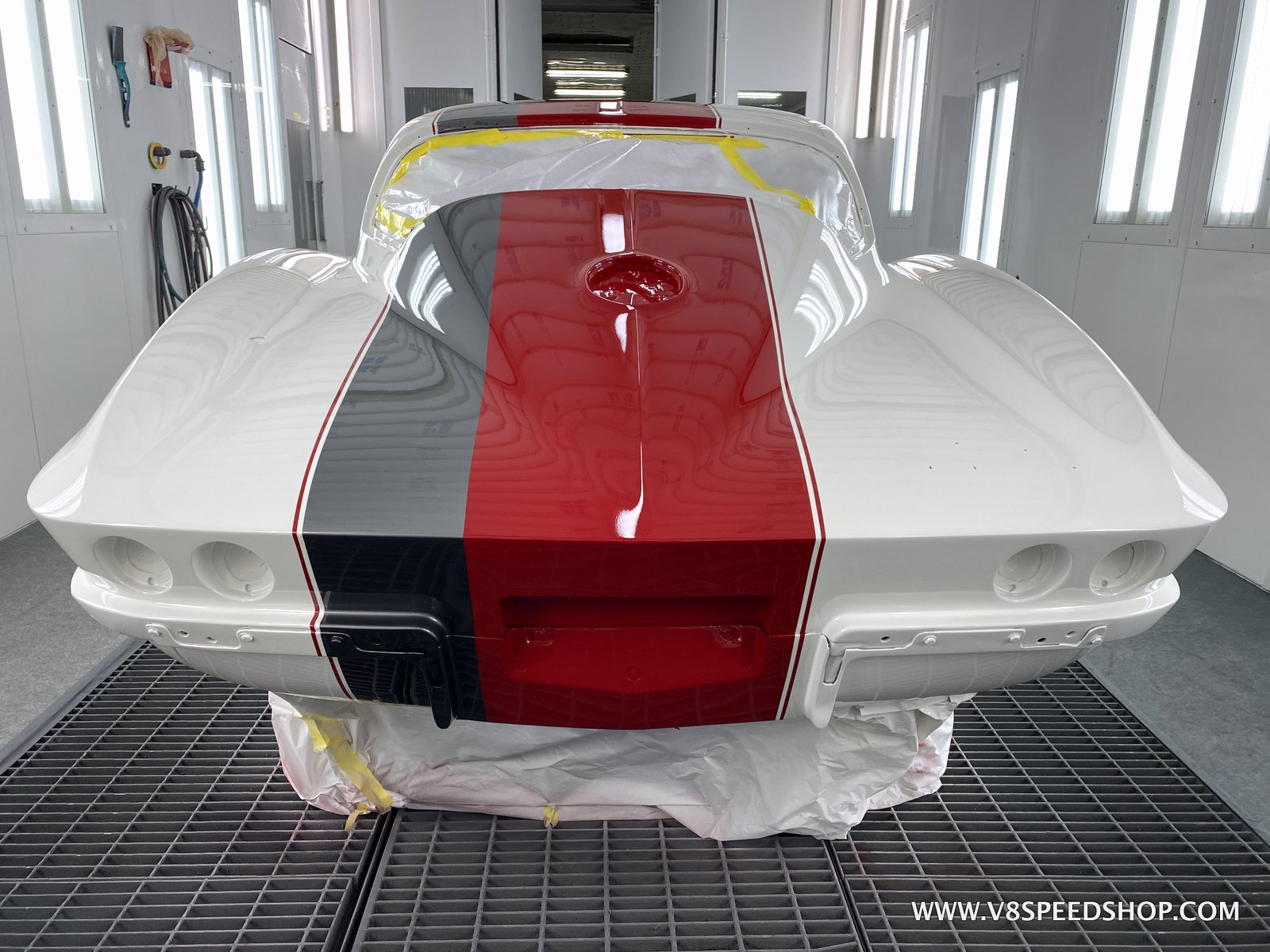 1964 Chevrolet Corvette Repaint and Upgrades at V8 Speed & Resto Shop