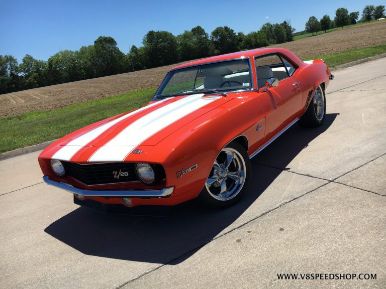 1969 Chevrolet Camaro Tuning and Suspension Updates at the V8 Speed and Resto Shop