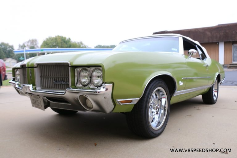 1971 Oldsmobile Cutlass Supreme Convertible Maintenance at V8 Speed and Resto Shop
