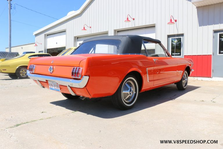 1964.5 Ford Mustang Convertible Details at the V8 Speed and Resto Shop