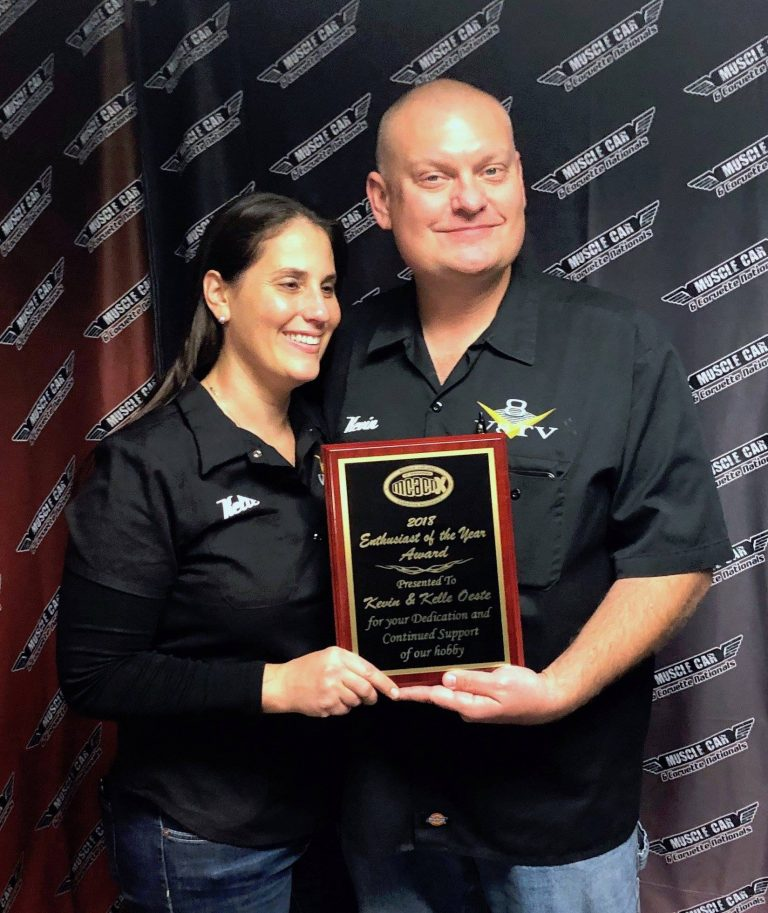 V8TV's Kelle and Kevin Oeste Recognized at the 2018 Muscle Car and Corvette Nationals