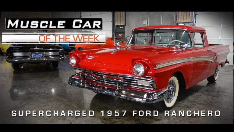 Supercharged 1957 Ford Ranchero Muscle Car Of The Week Video 15