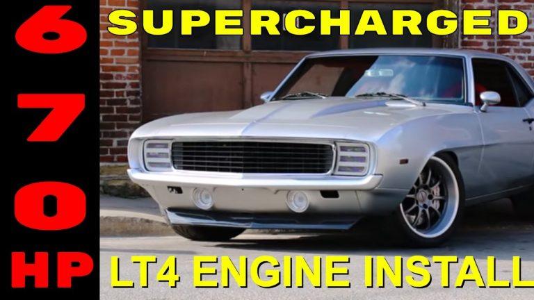 Pro-Touring 1969 Camaro Supercharged LT4 Swap Install Video V8TV PART 1 V8 Speed & Resto Shop