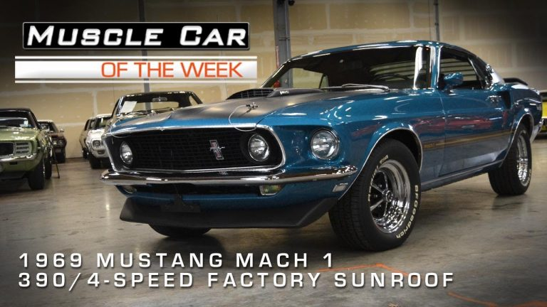 Muscle Car Of The Week Video #9: 1969 Mustang Mach 1 Factory Sunroof