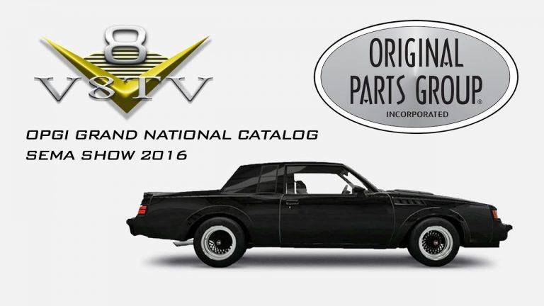 Original Parts Group Announces Buick Grand National Parts Line at SEMA 2016 Video V8TV OPGI