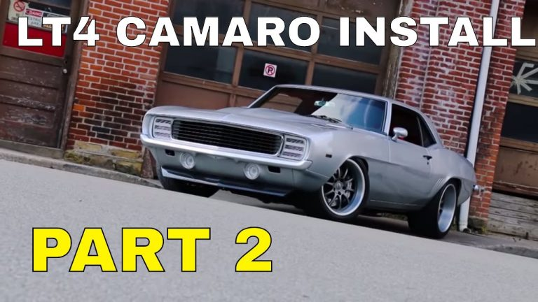 Pro-Touring 1969 Camaro Supercharged LT4 Swap Install Video V8TV Part 2 V8 Speed and Resto Shop