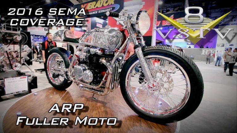 Bryan Fuller Moto Shogun Motorcycle in ARP SEMA Display 2016 V8TV Video