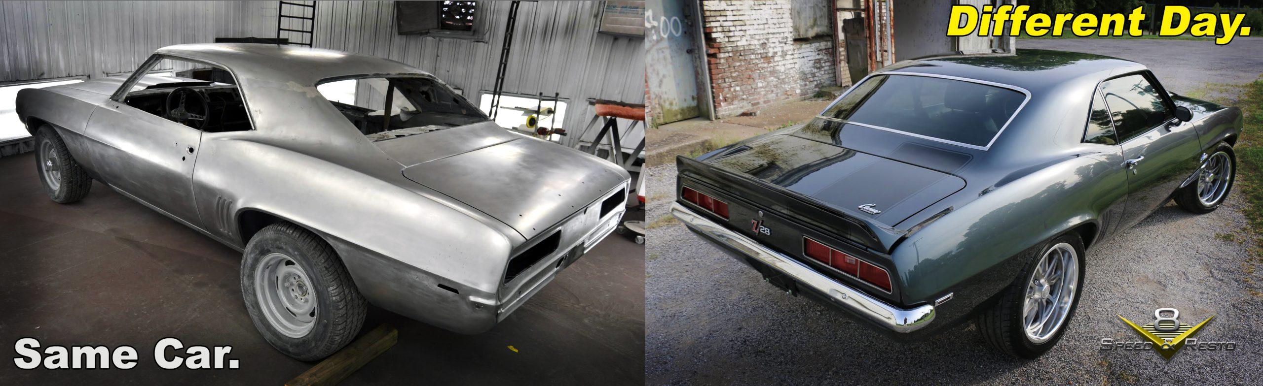 1969 Camaro Before And After