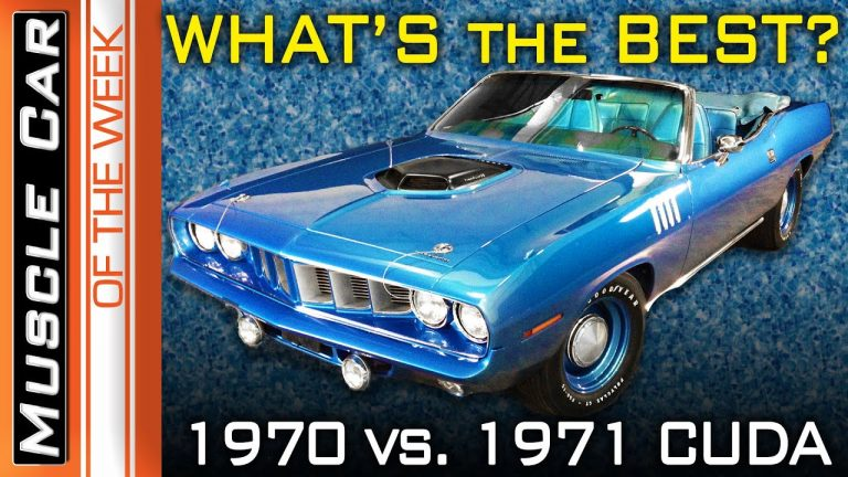 1970 and 1971 Plymouth Cudas –  Which is the best? Muscle Car Of The Week Episode #355
