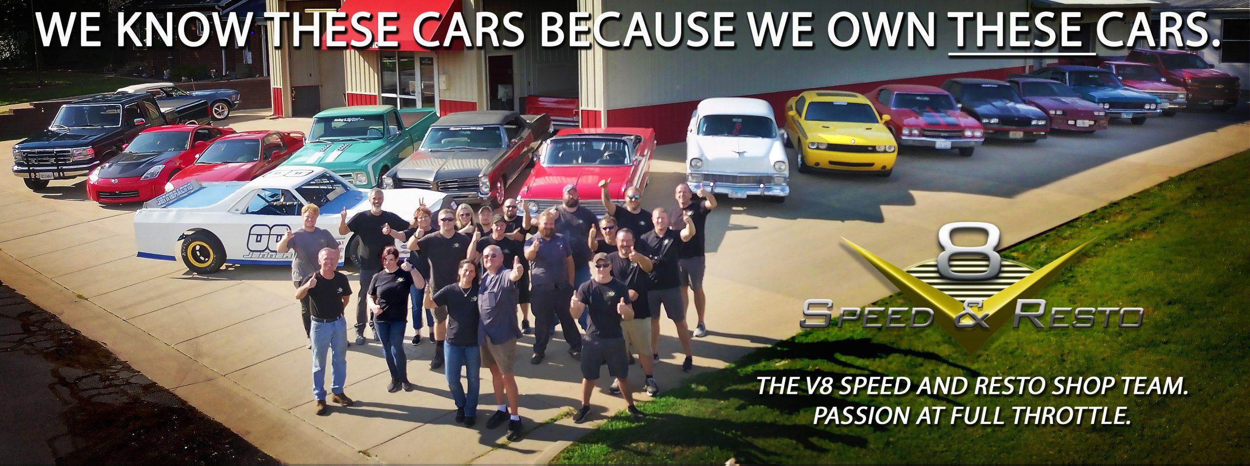 V8 Speed and Resto Shop Team