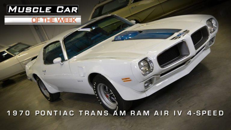 Muscle Car Of The Week Video #3: 1970 1/2 Pontiac Trans Am Ram Air IV