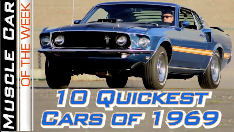 Top 10 Quickest Muscle Cars Of 1969 Muscle Car Of The Week Episode 373