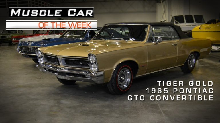 Muscle Car Of The Week Video #14: Tiger Gold 1965 GTO Convertible
