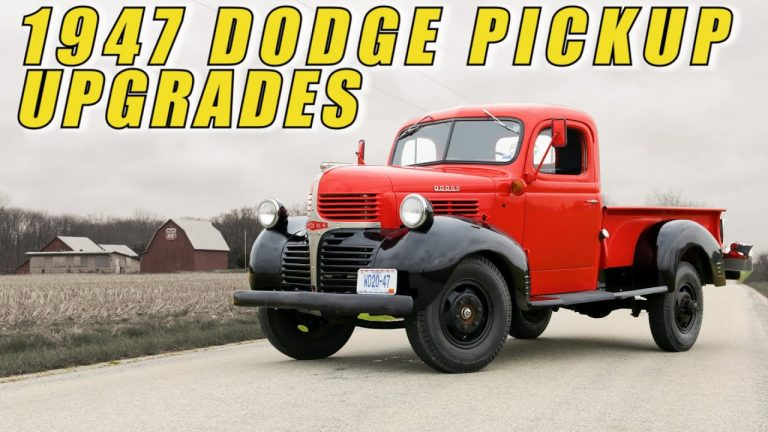 1947 Dodge Pickup EFI 4.0 Jeep Engine Swap and 5 Speed Manual Conversion at V8 Speed & Resto Shop