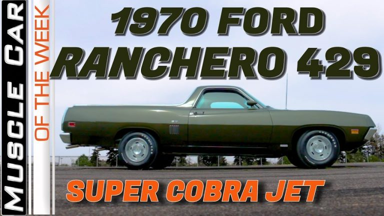 1970 Ford Ranchero 429 Super Cobra Jet – Muscle Car Of The Week Video Episode 325 V8TV